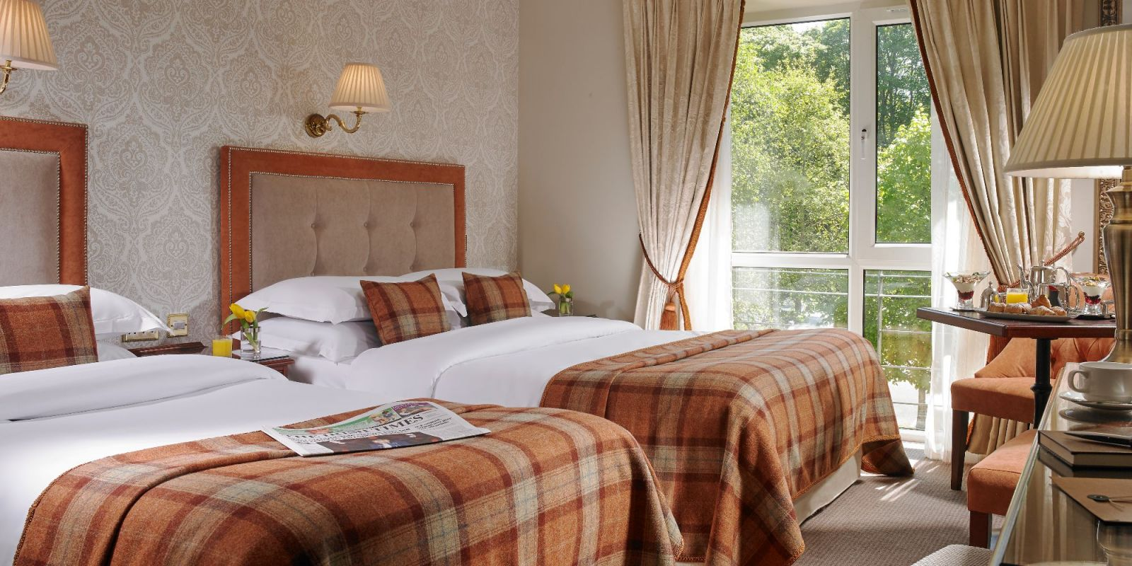 Classic Twin Room at Faithlegg House Hotel Golf Resort